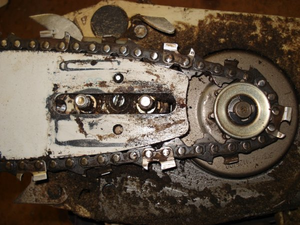 Chainsaw maintenance made easy scotties techfo sprocket cover removed greentooth Image collections