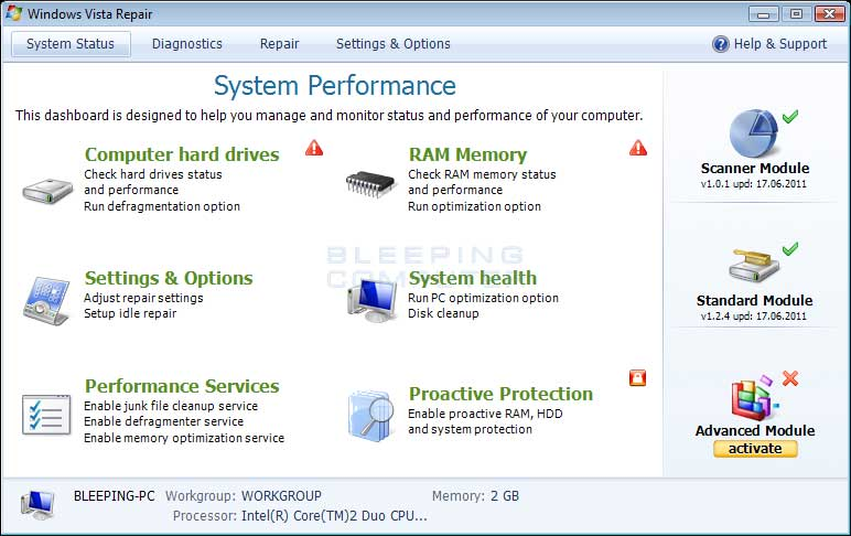 how to clean up my hard drive windows vista