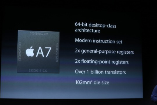 iPhone 5S A7 Processor Slide