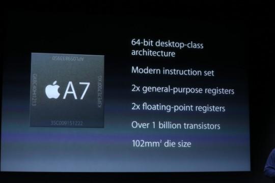 iPhone 5S A7 Processor Slide