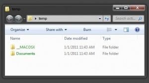 Green Folders in Windows 7