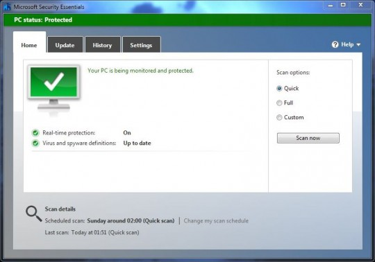 Microsoft Security Essentials, aka Defender