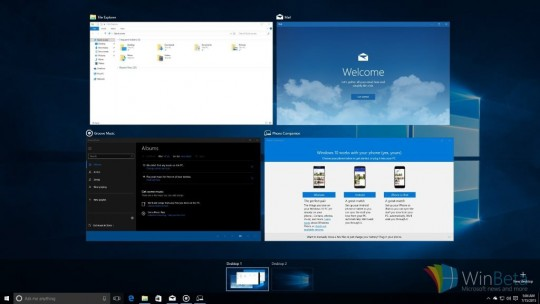 Multiple Desktops come to Windows 10