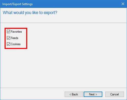 IE Export Bookmarks - Everything!