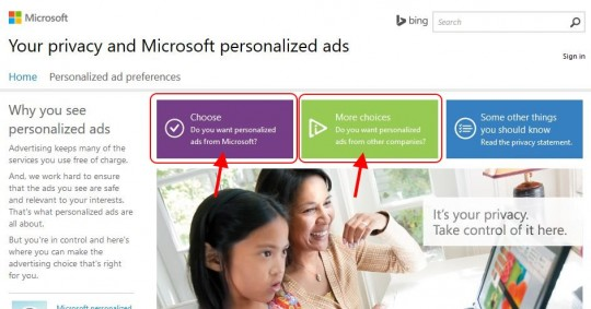 Microsoft Online Privacy Settings