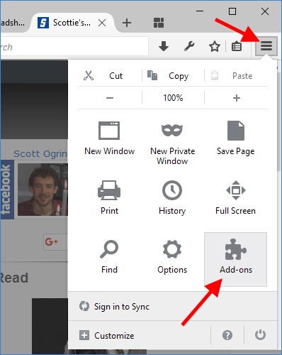 Firefox View Installed Add-ons