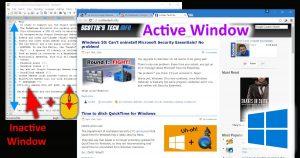 Windows 10: Scroll inactive windows