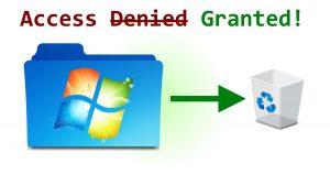 Delete old Windows Folder