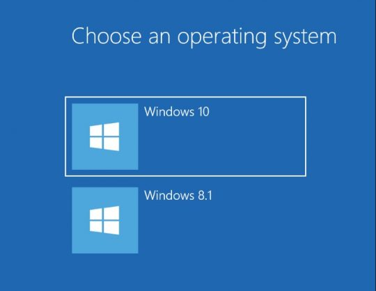 Choose an operating system - Windows 10