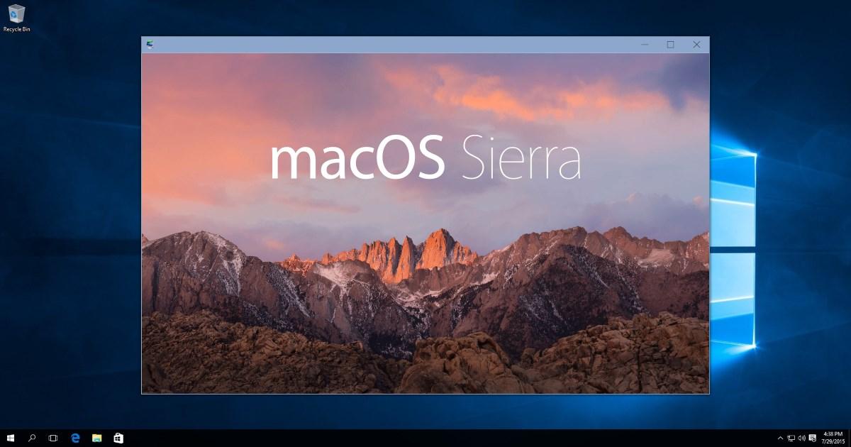 Virtual Macos   Sierra In Windows