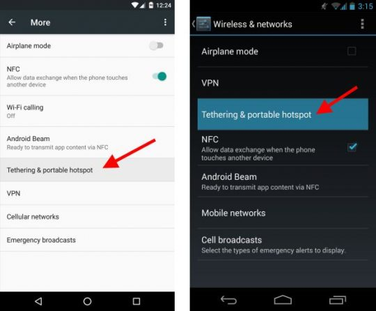 Android Tether Step 2