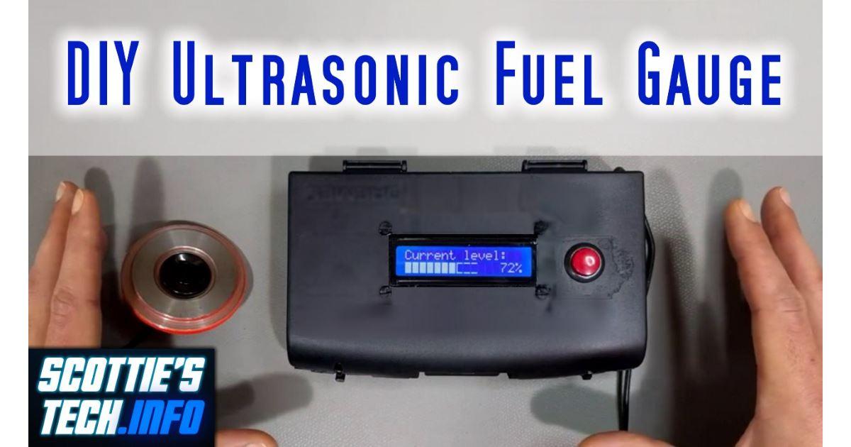DIY Ultrasonic Fuel Gauge / Level Sensor   Scottie's Tech Info