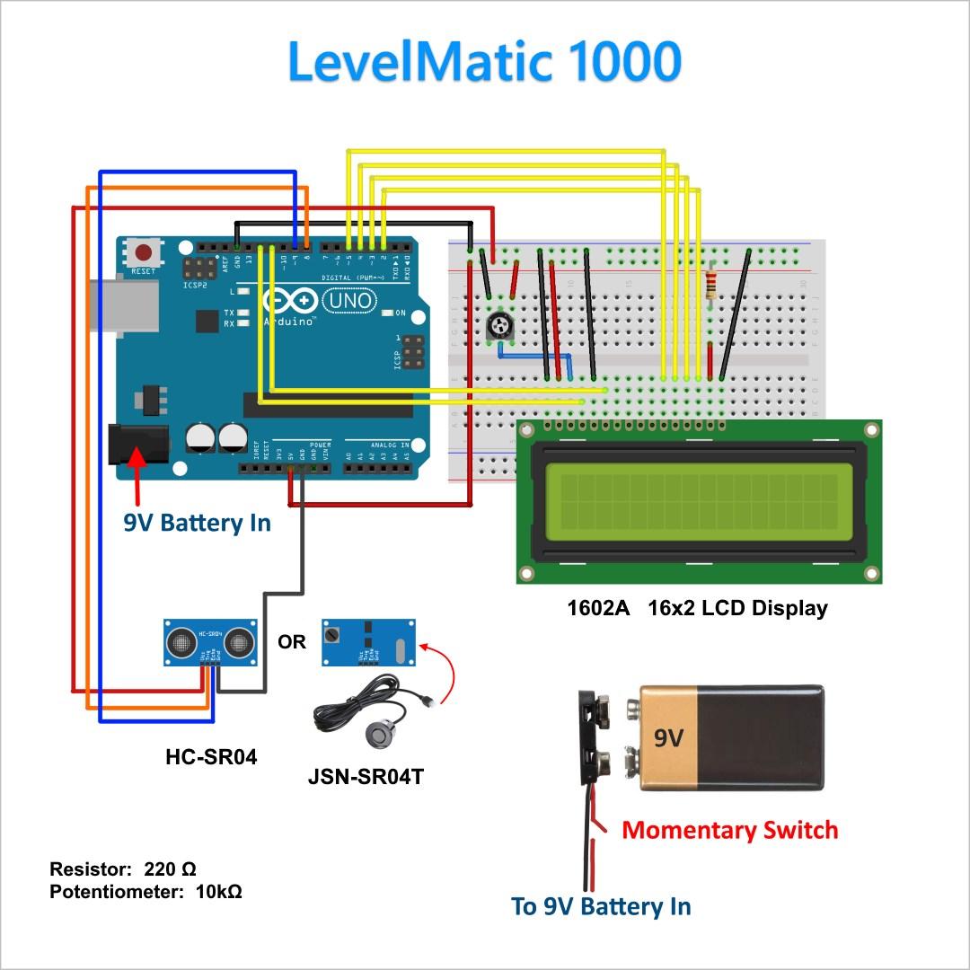 DIY Ultrasonic Fuel Gauge / Level Sensor | Scottie's Tech Info