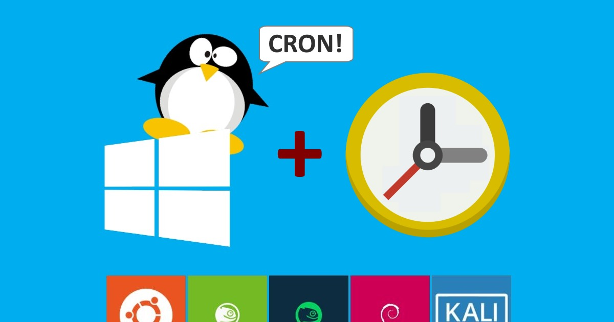 Run cron jobs in Windows Subsystem for Linux | Scottie's