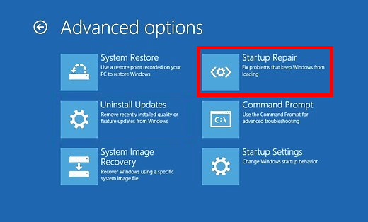 Win 10 Boot Repair Step 4