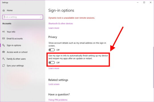 Sign-in Options 3