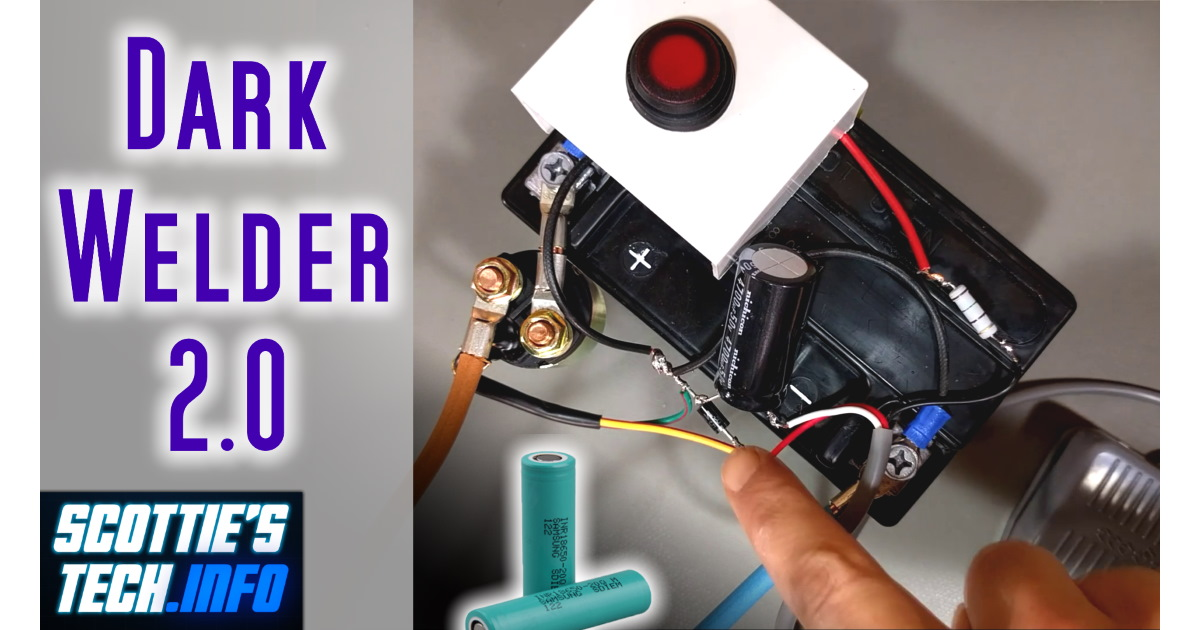 Dark Welder 2: My DIY battery tab spot welder