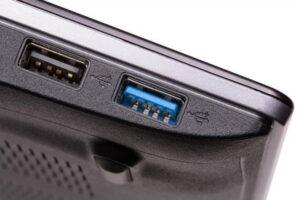 Blue USB 3 port