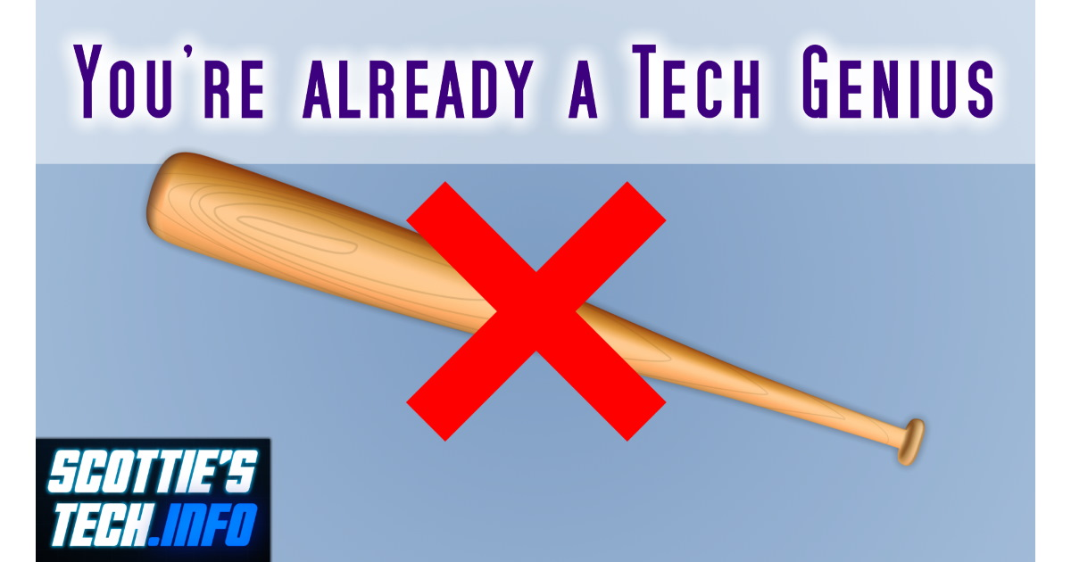 How to fix tech problems without a baseball bat