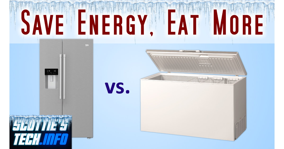 Deep Freezers use WAY less energy than you think