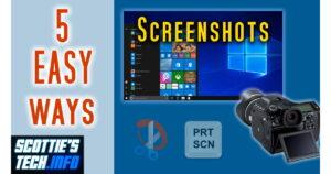 5 easy screenshot methods in Windows 10