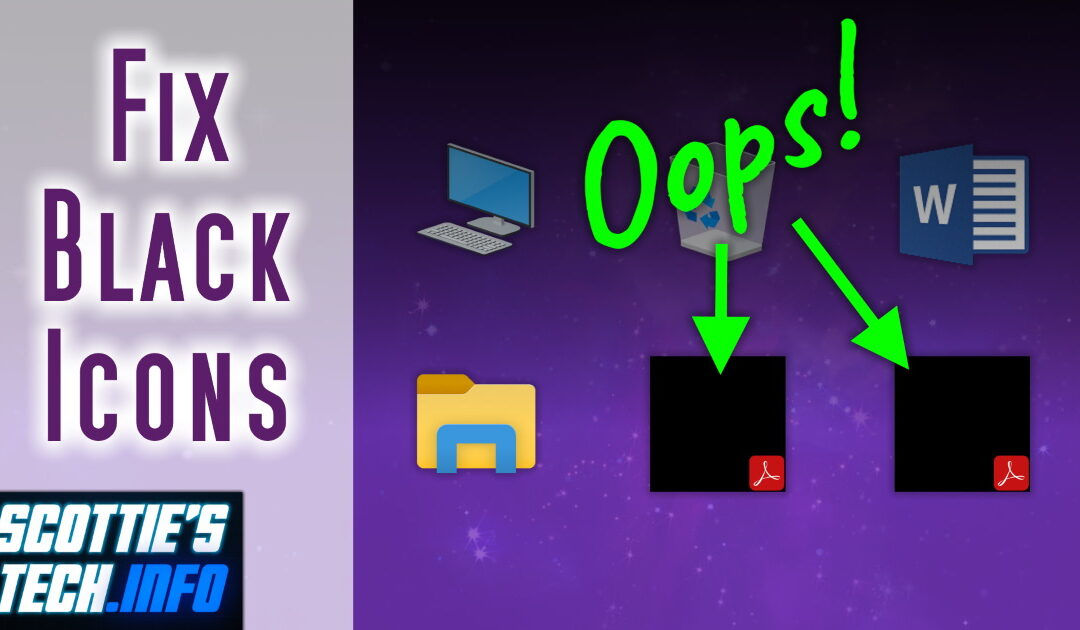 How to fix black thumbnail preview icons