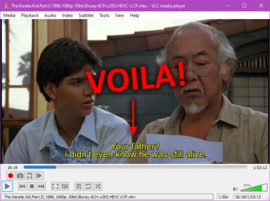 VLC subtitles Step 7